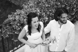 Boda Marina y Jaime - Novios en terraza picado - Santiago Stankovic Fotógrafo